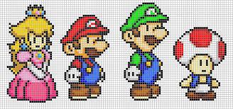 super mario pixel art
